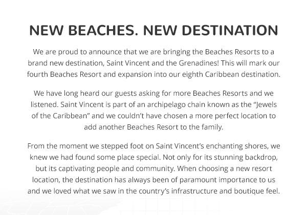 New Beaches
