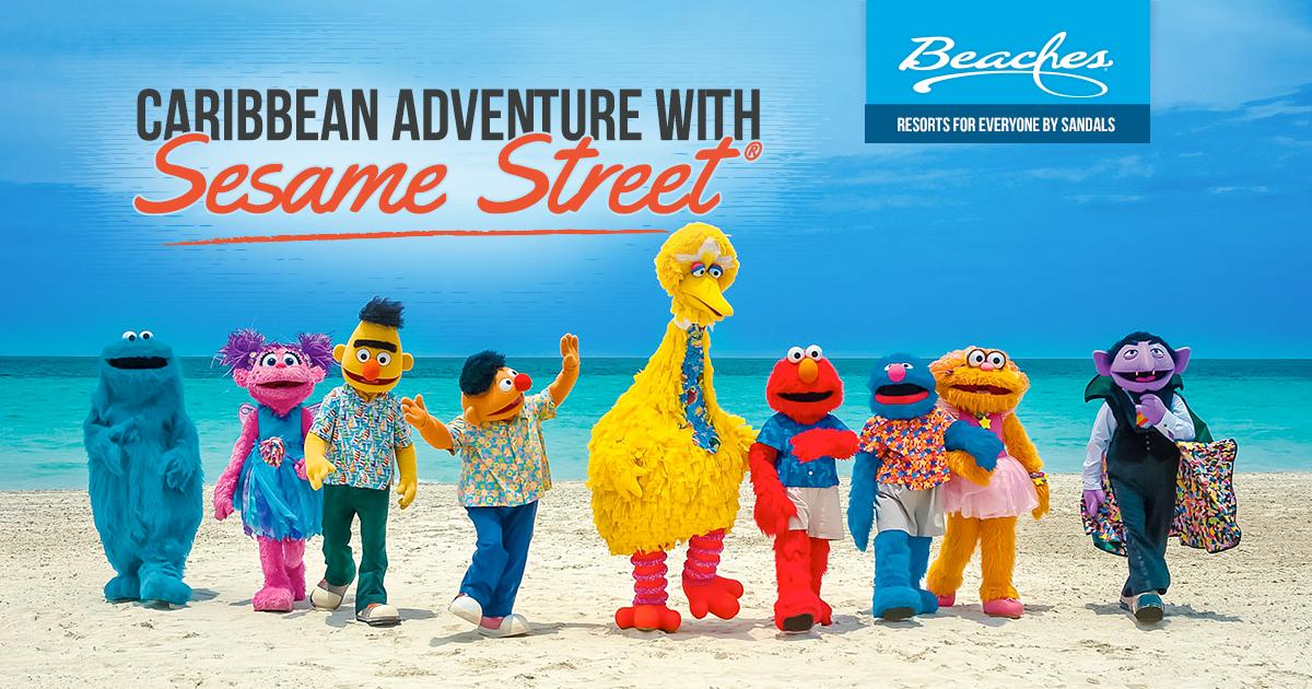 Kids Sesame Street Caribbean Adventure Vacation Beaches